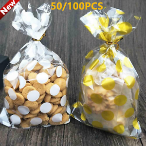 50 DIY All Occasion Party Favor Candy Cookies Loot Treat Cello Plastic Gift Bags