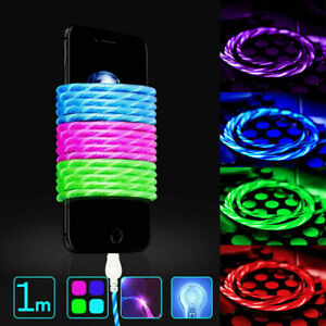 Genuine-Quality-LED-Lighting-Flow-Charger-Cable-USB-Glow-For-iPhone-6-7-8-XS-1M