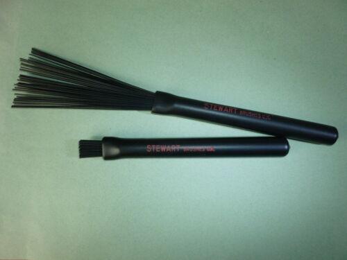 RETRACTABLE BLACK NYLON DRUM BRUSHES Excellent Value Jazz Rake Drum Sticks