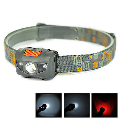 1000LM Mini Super Bright Headlight  R3 + 2 LED 4 mode  Headlamp Head Torch