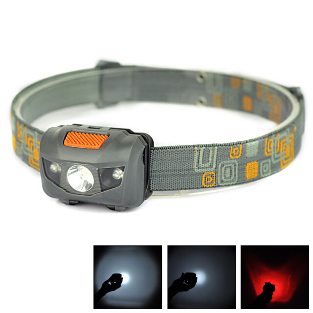 Mini Super Bright Headlight R3+2 LED 300LM 4 mode Flashlight Headlamp Light