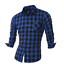 Men-039-s-Long-Sleeve-Casual-Check-Print-Cotton-Work-Flannel-Plaid-Shirt-Top thumbnail 5
