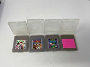 Nintendo-Game-Boy-Lot-Of-4-Games-Tetris-Dr-Mario-Snoopy-039-s-Kirby-039-s-Authentic