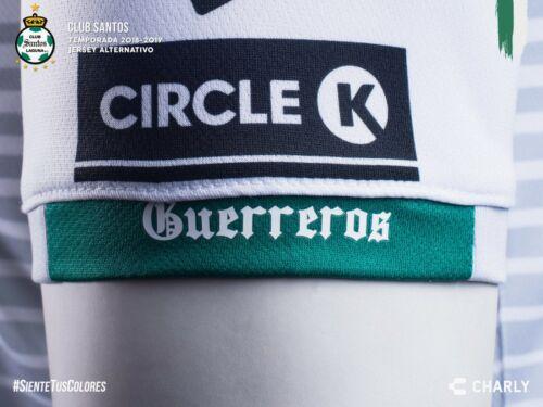 Charly Men/'s 18-19 Club Santos 3rd Jersey White//Grey