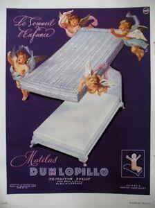 PUBLICITE-DE-PRESSE-DULOPILLO-MATELAS-ANGES-FRENCH-ADVERTISING-1950
