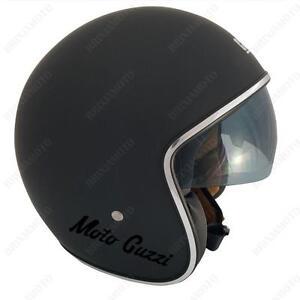 CASCO-JET-CGM-VINTAGE-NERO-OPACO-MOTO-GUZZI-BREAK-NERO-XS-S-M-L-XL