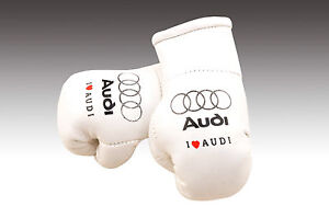 AUDI MINI BOXING GLOVE FOR THE REAR VIEW MIRROR OF YOUR CAR BRAND NEW GIFT