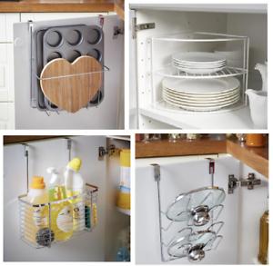 Pan Lid Plate Storage Rack Under Shelf
