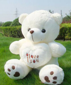 70cm-Giant-Big-White-Teddy-Bear-Stuffed-Animal-Plush-Soft-Toy-Doll-Gift-Handmade