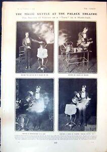 Original Old Antique Print Magic Kettle Palace Theatre American Ralph Dean 1904