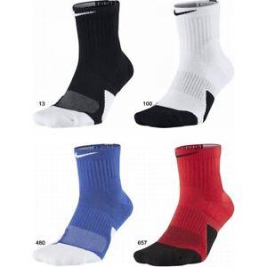 abrigo muñeca espacio  Nike Basketball Socks Dry Elite Cushioned 1.5 CREW SOCKS MID SX5594 DRI-FIT  | eBay