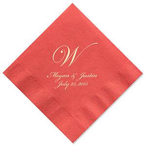 100 personalized napkins monogram wedding 3 ply napkins cocktail