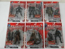 McFarlane Metal Gear Solid 2 Sons of Liberty Complete Set Snake 6 Figure Lot