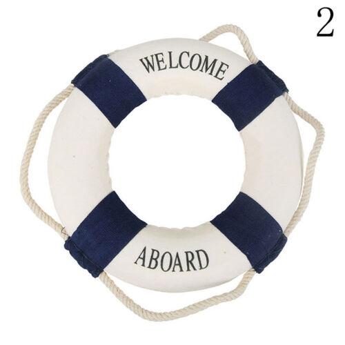 Wanddeko Rettungsring Willkomen Aboard Rettungsring maritime Deko Blau