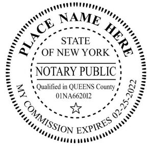 Details About State Of New York Custom Round Self Inking Notary Public Stamp Ideal 400r