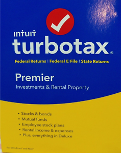 2016 New Intuit Turbotax Premier Investments /& Rental Property Federal State USA