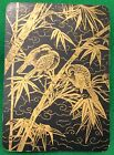 Playing Cards 1 Swap Card - Old Antique Wide Lacquer JAPANESE BIRDS on BAMBOO