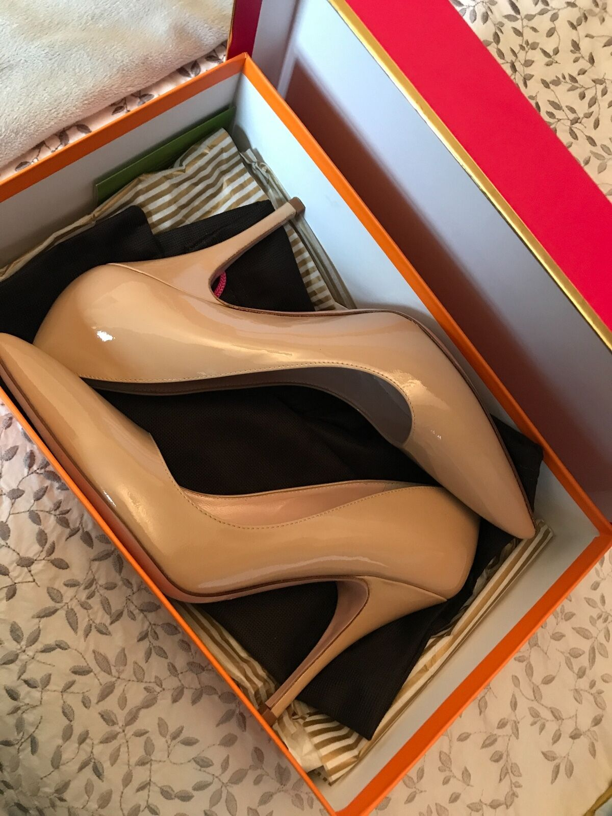 Kate Spade patent patent patent leather nude heels never been worn brand new in box. UKGröße6.5 da6377