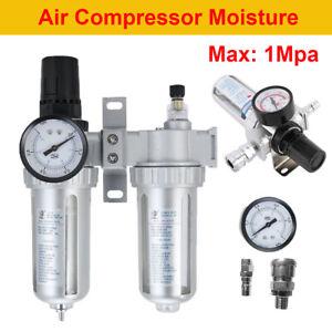 NEW-Air-Compressor-Oil-Lubricator-Water-Separator-Trap-Filter-Regulator-Gauge-UT