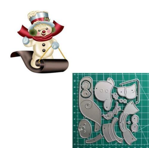Weihnachten Schneemann Stencil Cutting Dies Scrapbooking Karten Stanzschablone