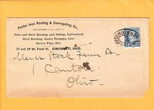 Porter-Iron-Roofing-Corrugating-Co-Cincinnati-Ohio-Racetrack-Cancel-z51