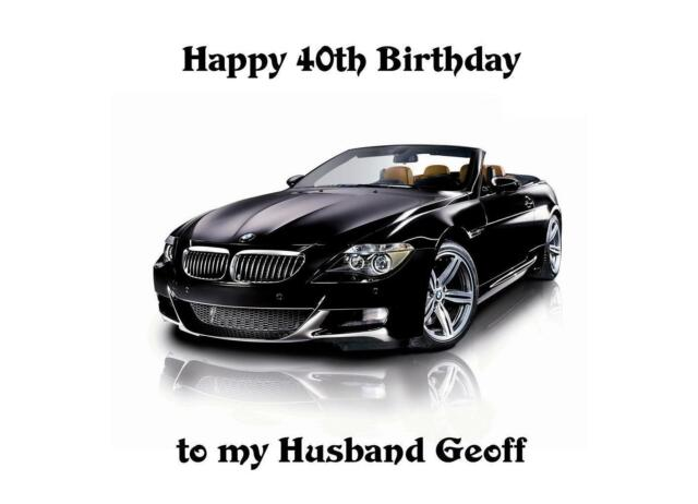 Bmw Sports Car Birthday A5 Card Personalised Husband Son Uncle