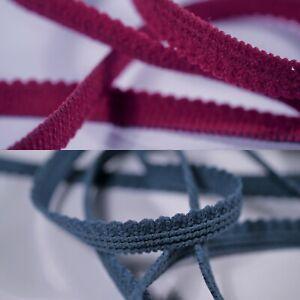 5m of 10mm BLACK Elastic Scalop Picot Edge Lingerie Underwear Edging Lace Light