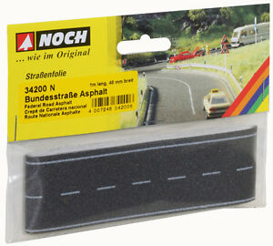 Noch-N-34200-Bundesstrasse-Asphalte-100-x-4-cm-1qm-neuf-emballage-scelle