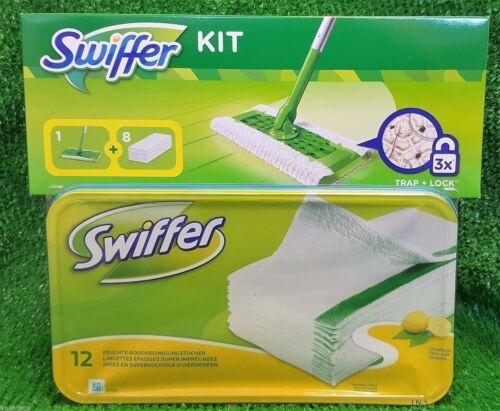 Stiel sowie 12 Swiffer feuchte Bodentücher AKTION!1x Swiffer Starterset Wischer