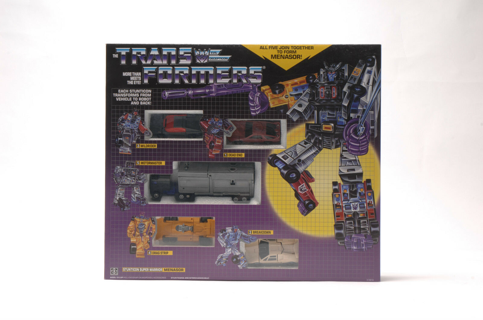 Transformers  Uomoasor G1 Stunticon  Super Guerriero Reissue Regalo Replica