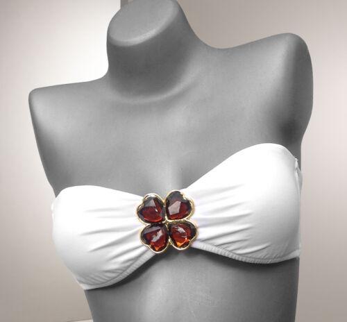 Victoria/'s Secret Jewel Embellished Bandeau Bikini Oberteil XS; S; M; L
