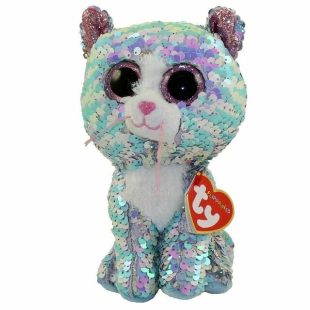 Ty Beanie Babies 36674 Flippables Regular Whimsy The Blue Cat for ... cb114c854c46