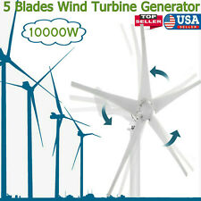10000w Wind Turbine Generator 5 Blades Dc 12v With Power Charge Controller
