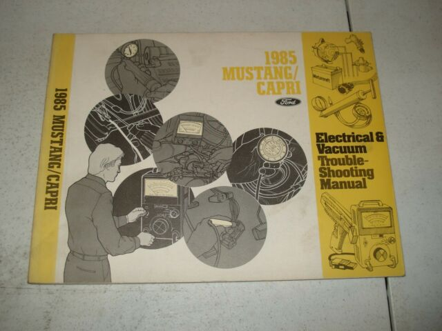1985 Ford Mustang Wiring Diagrams Service Manual Shop Book