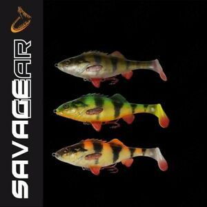 Savage-Gear-4D-Perch-Shad-12-5cm-23g-NEW-lure-percy-the-perch-line-thru-cast