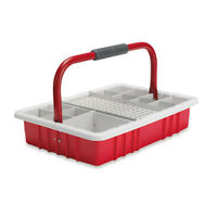 Red Phlebotomy Tray With 13mm Test Tube Rack 1 Ea