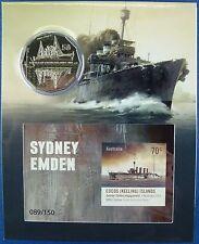 Kokos Inseln Cocos Isl. 2015 Sydney Emden Kriegsschiffe Seeschlacht Block 18 MNH