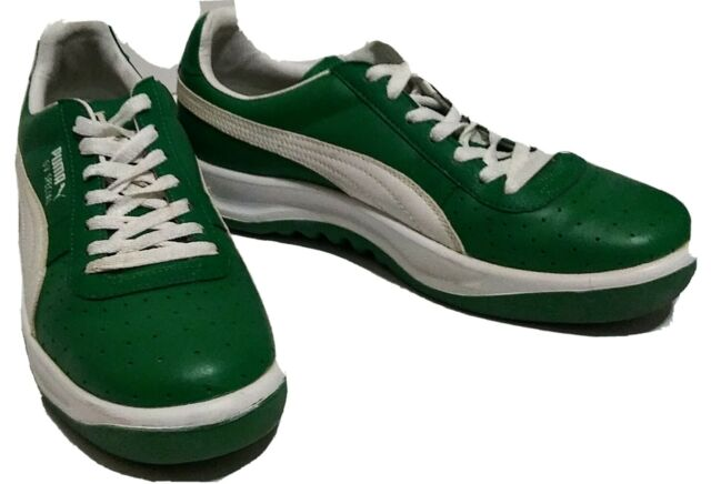 PUMA GV Special Mens Size 10 Sneakers Classics Green Leather White Tennis Shoes