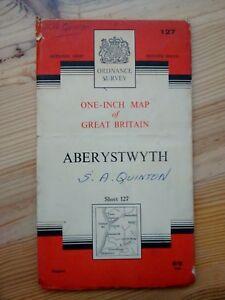 Ordnance Survey One Inch Landranger Aberystwyth Sheet 127 1966 - Thatcham, United Kingdom - Ordnance Survey One Inch Landranger Aberystwyth Sheet 127 1966 - Thatcham, United Kingdom