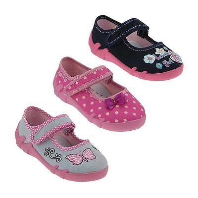 Neue Mädchen Ballerina Hausschuhe Kinderschuhe Schuhe + Ledereinlage Klett