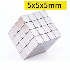 20x Strong Square Rare Earth Neodymium Magnets Craft Hobby Magnetic Diy 5x5x5mm