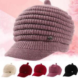 66495742 Women Beret Fall Winter Warm Baggy Beanie Knitted Crochet Hat Slouch ...
