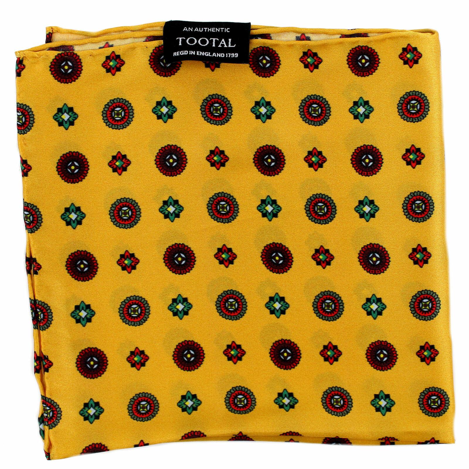 Tootal Gold Medallion Silk Pocket Square