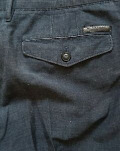 Mezcla-de-lino-para-hombre-London-De-Burberry-Chinos-Pantalones-Jeans-W34-034-X-L30-034-RRP-325
