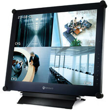 "AG NEOVO X-19AV 19"" TFT HD LCD GLASS MONITOR SCREEN METAL WALL DISPLAY*BLACK*UK"