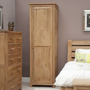 Tremendous Details About Nero Solid Oak Bedroom Furniture Single Wardrobe With Felt Pads Download Free Architecture Designs Crovemadebymaigaardcom
