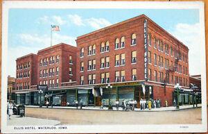 1920 postcard ellis hotel waterloo iowa ia ebay. Black Bedroom Furniture Sets. Home Design Ideas