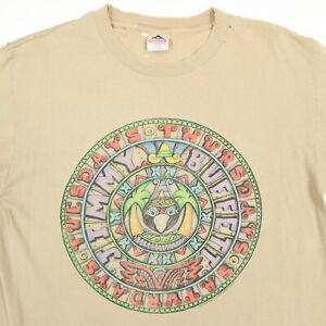 Vtg-Destroyed-Jimmy-Buffet-Tour-Promo-T-Shirt-LARGE-Sun-Wash-Faded-Distressed