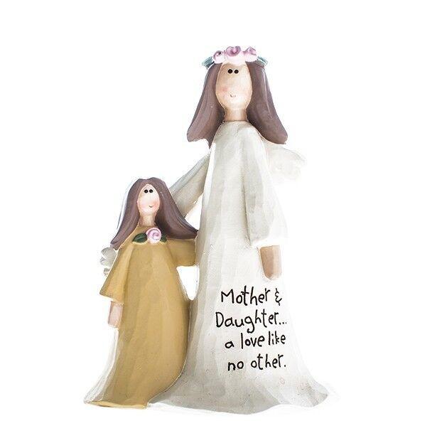 Angel Ornament  'Mother Daughter' Cream Sentimental Gift Keepsake
