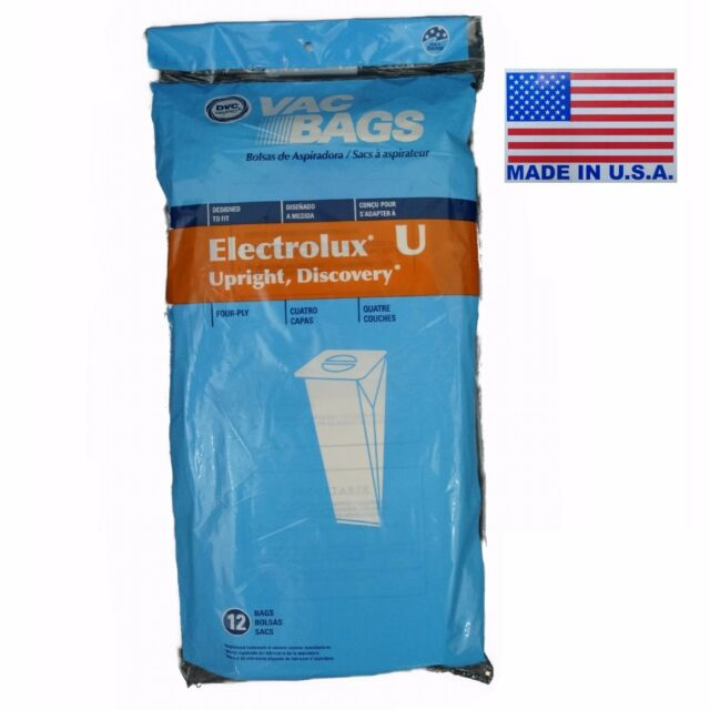 12 Electrolux Upright U Vacuum Bags 4 Ply Made By Dvc